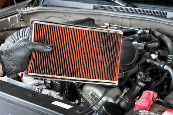 Troca de filtro de ar